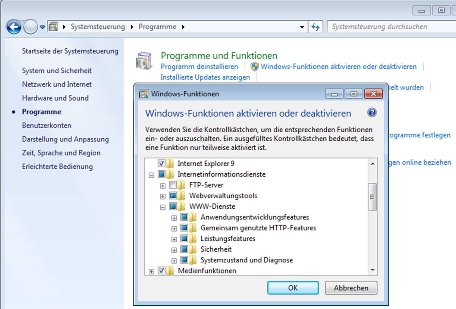installiertes programm wird nicht angezeigt